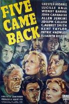 Five Came Back 1939 DVD - Chester Morris / Lucille Ball